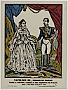 Napoleon III, Emperor of the French, Eugenie de Montijo, Countess of Teba, Empress of the French by imprimerie Pellerin (MuCEM, Musee des Civilisations de l'Europe et de la Mediterranee, Paris)