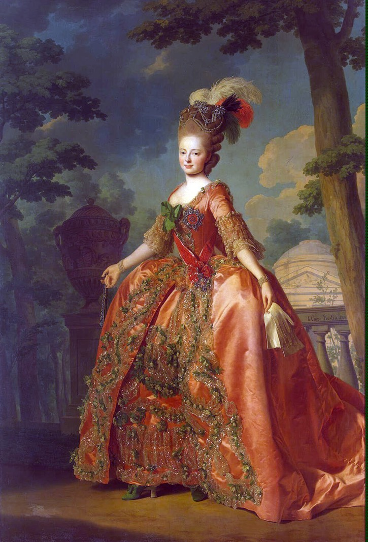 1777 Grand Duchess Maria Fiodorovna by Alexander Roslin (State Hermitage Museum - St. Petersburg, Russia)