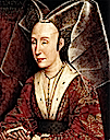 1500ca. copy of 1445-1450 Isabella of Portugal by Rogier van der Weyden studio (Getty Museum, Los Angeles California USA)