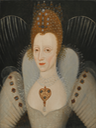 1500s (late) Bust length portrait of Elizabeth (auctioned by Sotheby's) From the Sotheby's Web site
