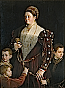 1523 Camilla Gonzaga, condesa de San Segundo y sus hijos by Girolamo Francesco Maria Mazzola, known throughout his artistic career as Parmigianino (Museo Nacional del Prado - Madrid Spain)