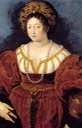1529 Isabella d'Este by Rubens after Tiziano's lost Isabella in Red (Kunsthistorisches Museum - Wien, Austria) resized 35 cm high at 28.35 pixels:cm