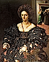 1531 Presumed portrait of Margherita Paleologo, Duchess of Mantua by Giulio Romano (Royal Collection)