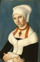 1537 (after) Barbara Jagiellon by workshop of Lucas Cranach the Elder (Gemäldegalerie - Berlin, Germany) Wm