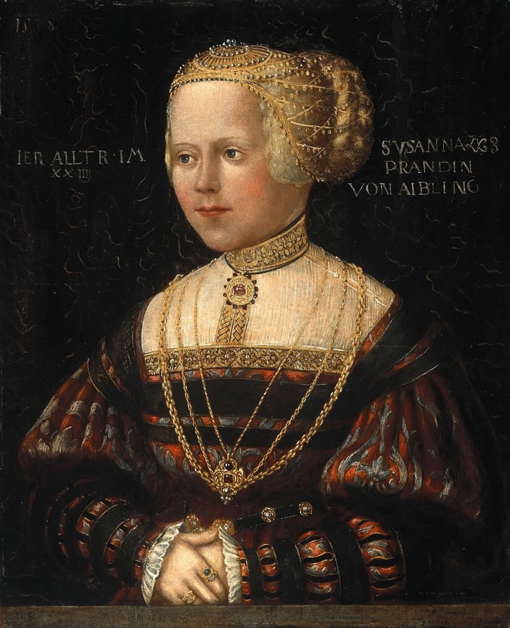 1538 Susana Prand von Aibling by Hans Schöpfer the Elder (location ?) From pinterest.com/pawerychlik/renaissance-clothing/.jpg