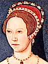 1544 Mary at the age of 28 by Master John face (National Portrait Gallery, London)