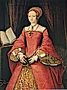 ca. 1546 Elizabeth I when Princess by William Scrots(?) (Royal Collection)
