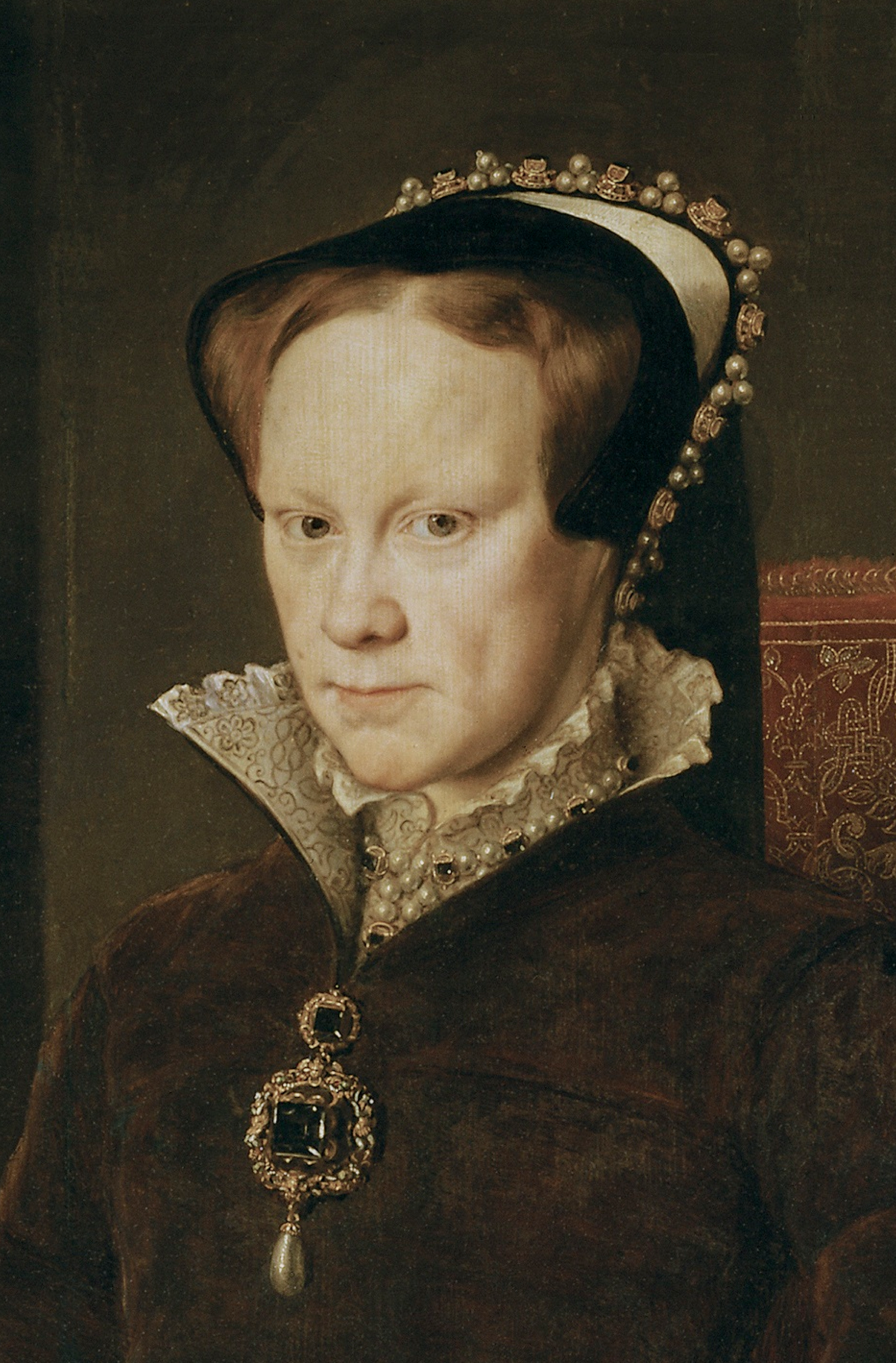 1554 Mary Tudor, Queen of England, second wife of Felipe ...