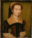 1555 Louise Halluin, Dame de Cipierre by Corneille de Lyon (Art Institute of Chicago)