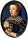 1555 Catherine de Medici attributed to Clouet (Victoria & Albert Museum)