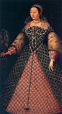 1556 Catherine de Medici possibly by Agnolo Bronzino