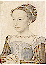 ca. 1559 Marguerite de France by Francois Clouet (Musee Conde Chantilly)