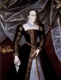 1565 Official portrait of Mary, Queen of Scots (Blairs Museum, The Museum of Scotland's Catholic Heritage - Aberdeen, Aberdeenshire UK)