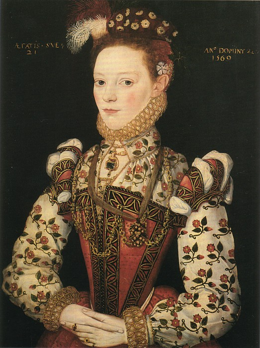 1569 Thought to be Lady Helena Snakenborg, Marchioness of Northampton by ? of British School (Tate Gallery, London)
