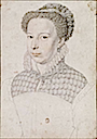 1570 Marguerite de Valois by François Clouet (location unknown to gogm)