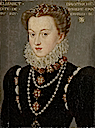 ca. 1571 Elisabeth of Austria by François Clouet