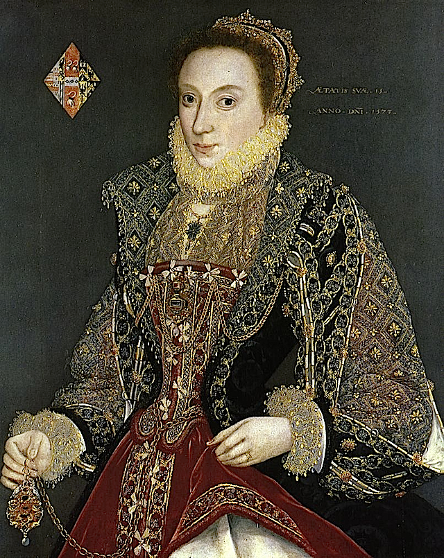 1573 Mary Denton attributed to George Gower (York City Art Gallery, UK)