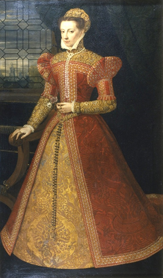 1575 Royal lady traditionally identified with Mary, Queen of Scots by Federico Zuccaro after Alonso Sánchez Coello (Chatsworth House - Bakewell, Derbyshire, UK) Wm inc. exp