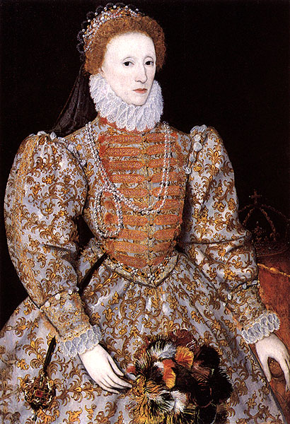 "1575ca. Elizabeth ""Darnley"" portrait by ? (National Portrait Gallery, London)"