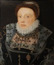 1576 Unknown Lady (once called 'Catherine Parr', and then 'Catherine Vaux, Lady Throckmorton') by ? (Coughton Court - Warwick, Warwickshire UK)