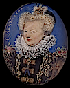 1577 Marguerite of Valois by Nicholas Hilliard (Berger Collection of the Denver Art Museum, Denver USA)