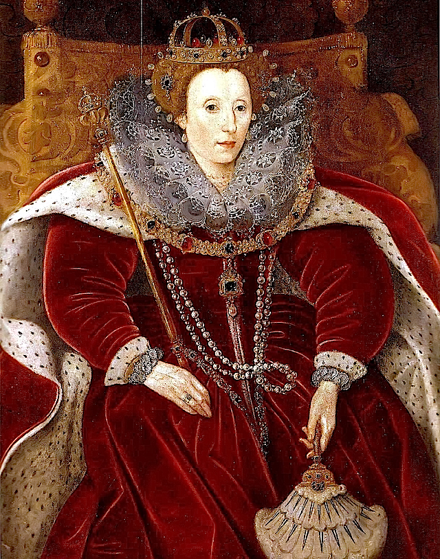 ca. 1585-1590 Elizabeth I in Parliament robes by ? (Helmingham Hall - Stowmarket, Suffolk UK) marinni.livejournal.com blog