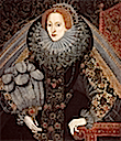 1585ca. Elizabeth I with a fan by ? (National Portrait Gallery, London)