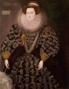1589 Frances Clinton, Lady Chandos by Hieronymus Custodis (Woburn Abbey - Woburn, Bedfordshire, UK)