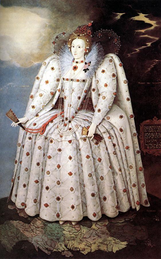 1592 Elizabeth Ditchley Portrait by Marcus Gheerraerts