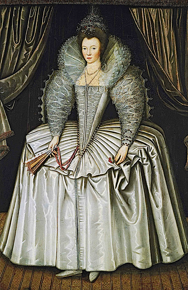 1595-1605 Lady, identified as Elizabeth Howard, daughter of Charles, 1st Earl of Nottingham by ? (auctioned by Christie's)
