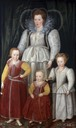 1596 Anne, Lady Pope with her children from her first marriage by Marcus Gheeraerts the Younger (National Portriat Gallery - London UK)