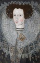 1606 Anne Carew, Lady Apsley, née Anne Bell, second wife of Sir Allen Apsley by ? (Buckland Abbey - Yelverton, Devon UK)