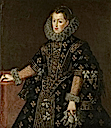 1607 Margareta de Austria by Juan Pantoja de la Cruz (private collection)