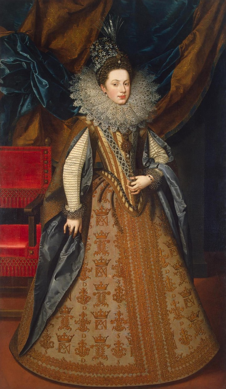 1608 Marguerite of Savoy by Frans Pourbus the Younger (State Hermitage Museum - St. Petersburg Federal City, Russia) UPGRADE Wm