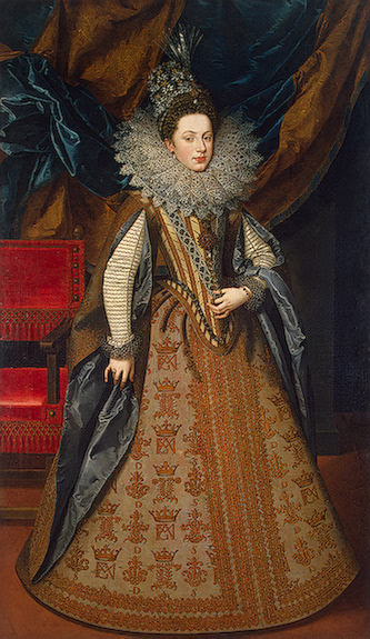 1608 Margaret Savoy, Duchess of Mantua, by Frans Pourbus II (Hermitage)