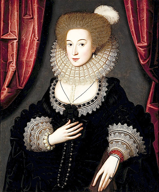 1610-1613 Mary Radclyffe by William Larkin (Denver Art Museum) mod