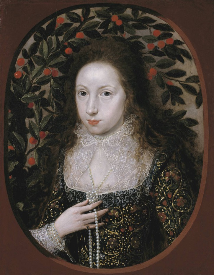 1615 Lady Anne Pope by Robert Peake (Tate Collection - London, UK) Wm
