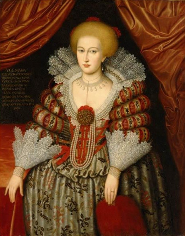 1619 Maria Eleonora of Brandenburg, Queen of Sweden by ? (Nationalmuseum - Stockholm, Sweden) From the lost gallery's photostream on flickr