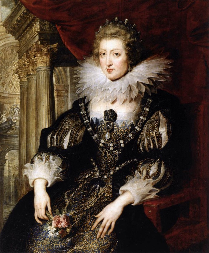 1621-1625 Anne of Spain:Austria by Peter Paul Rubens (Musée du Louvre - Paris, France) From the lost gallery's photostream on flickr 6002543805 d8aec46eb7 o