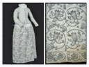1621-1640 Fustian linen cotton composite skirt (Museum of London - London UK)