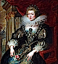 1621-1625 Anne of Spain/Austria by Peter Paul Rubens (Louvre)