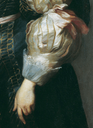 1629 Marie Louise de Tassis by Sir Anthonis van Dyck (Fürstlich Lichtensteinische Gemäldegalerie - Wien Austria) sleeves and back-flared cuffs