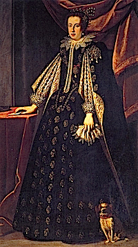 1630 Claudia de' Medici, Duchess of Urbino and Archduchess of Austria by Justus Sustermans (Galleria degli Uffizi - Firenze Italy)