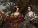 1632 Amalia van Solms and Charlotte de La Trémoïlle as Diana and Ceres by Gerard van Honthorst (Paleis Het Loo - Apeldoorn, Holland) Wm