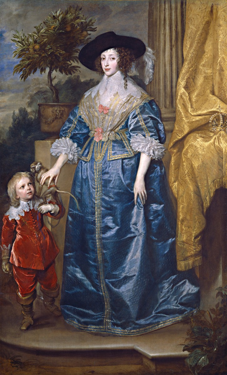 1633 Queen Henrietta Maria with Sir Jeffrey Hudson by Sir Anthonis van Dyck (National Gallery of Art - Washington, DC USA)