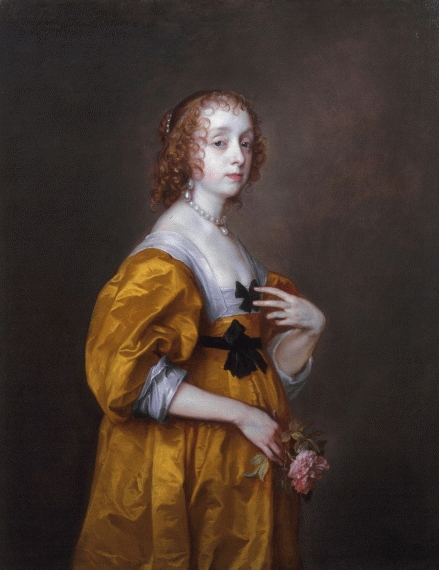 1636 Mary Villiers Lady Herbert of Shurland by Sir Anthonis van Dyck (Philip Mould)