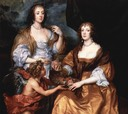 1637 Elizabeth Thimbleby & Dorothy, Viscountess Andover, by Sir Anthonis van Dyck (National Gallery, London)