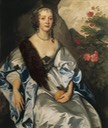 1637 (probable date) Elizabeth Savage, Lady Thimbleby probably by Sir Anthonis van Dyck (location unknown to gogm)