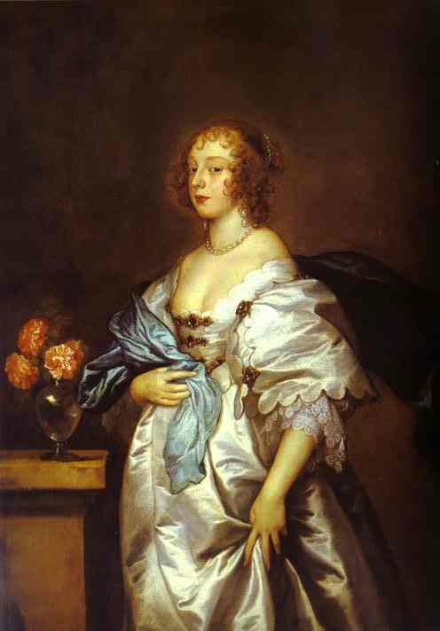 1638 Lady Borlase by Sir Anthony van Dyck (Kingston Lacy, Wimborne Minster UK)