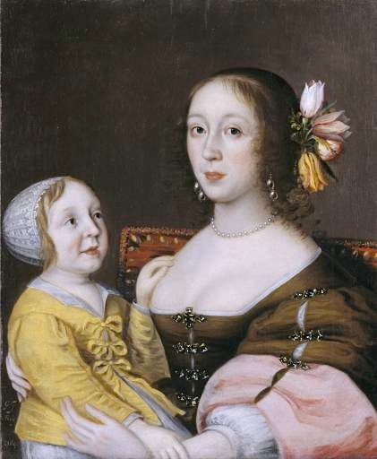 1641-1642 Lady Grenville and son by Gilbert Jackson (Tate collection - London UK)
